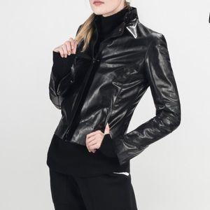 M0851 leather jacket | 🇨🇦 made | black | size 4